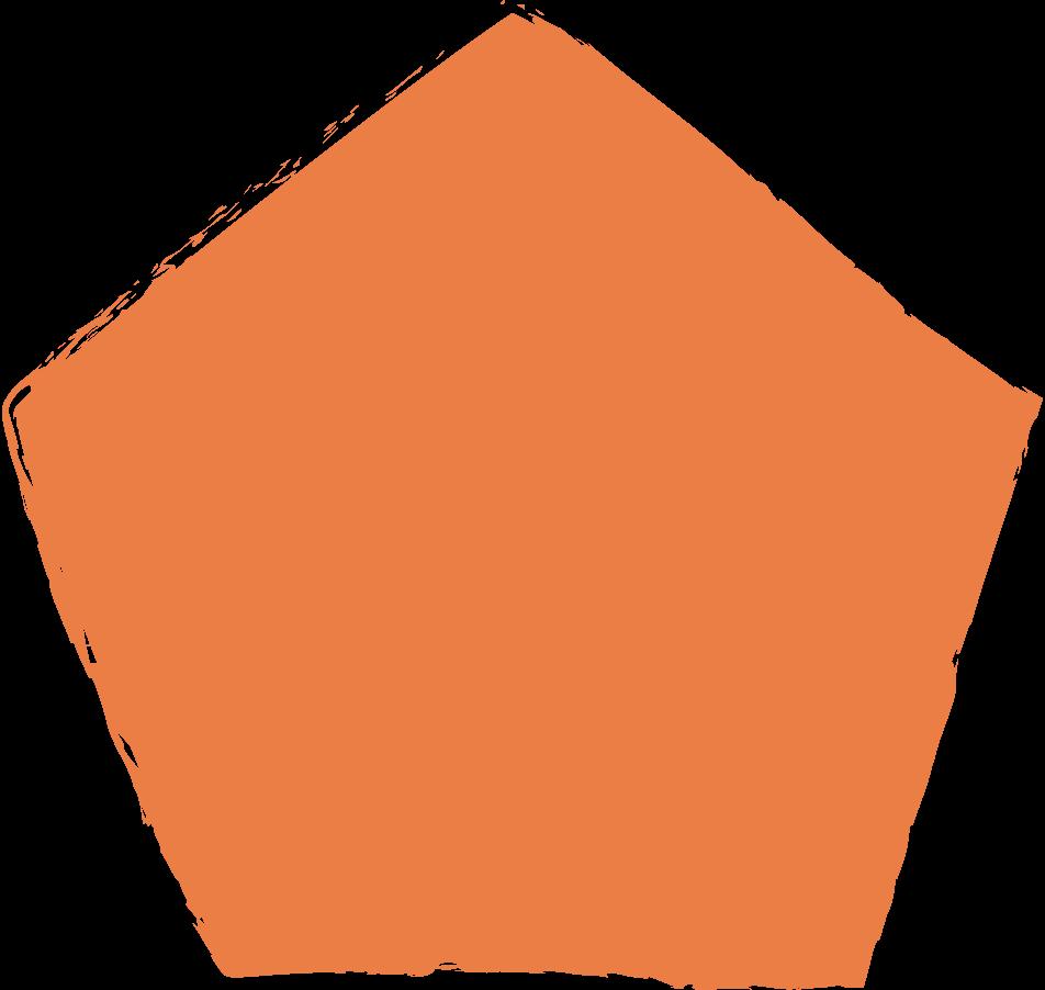 pentagon-orange Clipart illustration in PNG, SVG