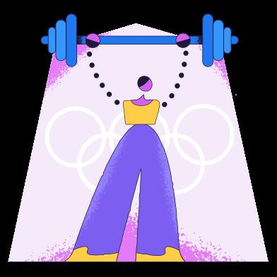 Imágenes de Levantamiento de pesas estilo  en PNG y SVG | Ilustraciones Icons8
