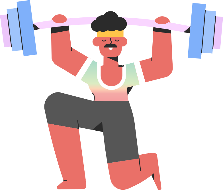 style sportsman barbell Vector images in PNG and SVG | Icons8 Illustrations