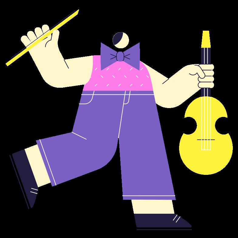 First Violin Clipart illustration in PNG, SVG