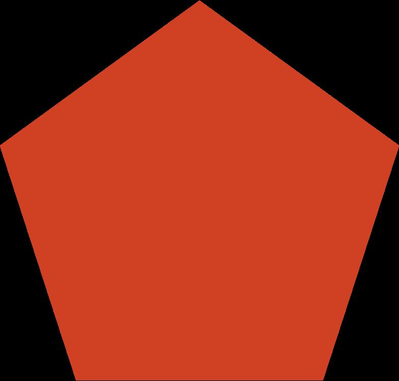 penagon red Clipart illustration in PNG, SVG