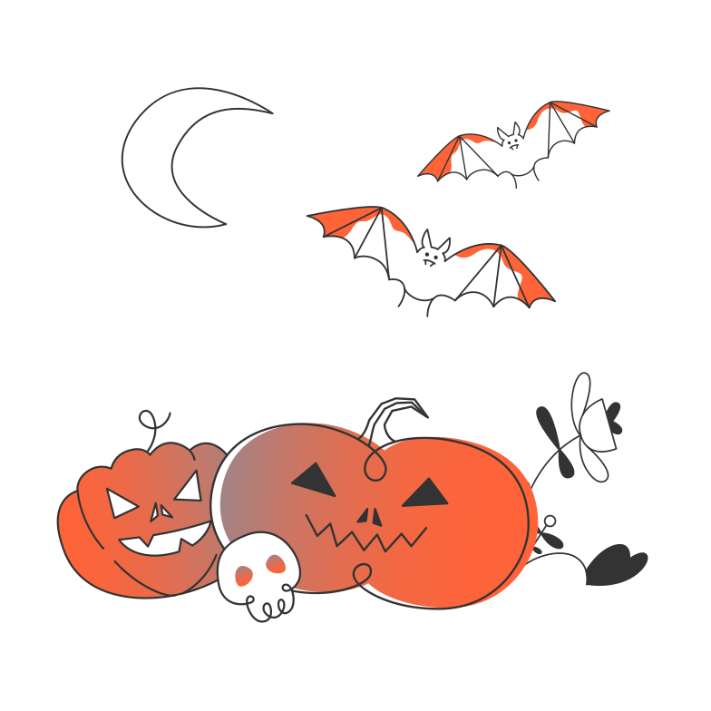 style Halloween pumpkins Vector images in PNG and SVG | Icons8 Illustrations