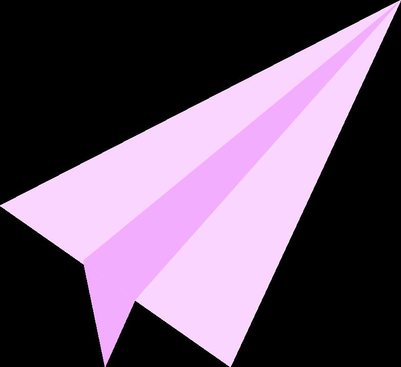 paper plane Clipart illustration in PNG, SVG