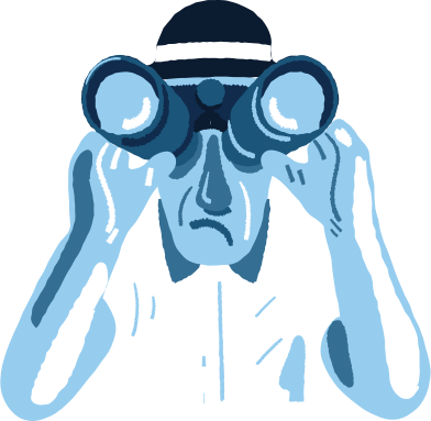 style man with binoculars images in PNG and SVG | Icons8 Illustrations