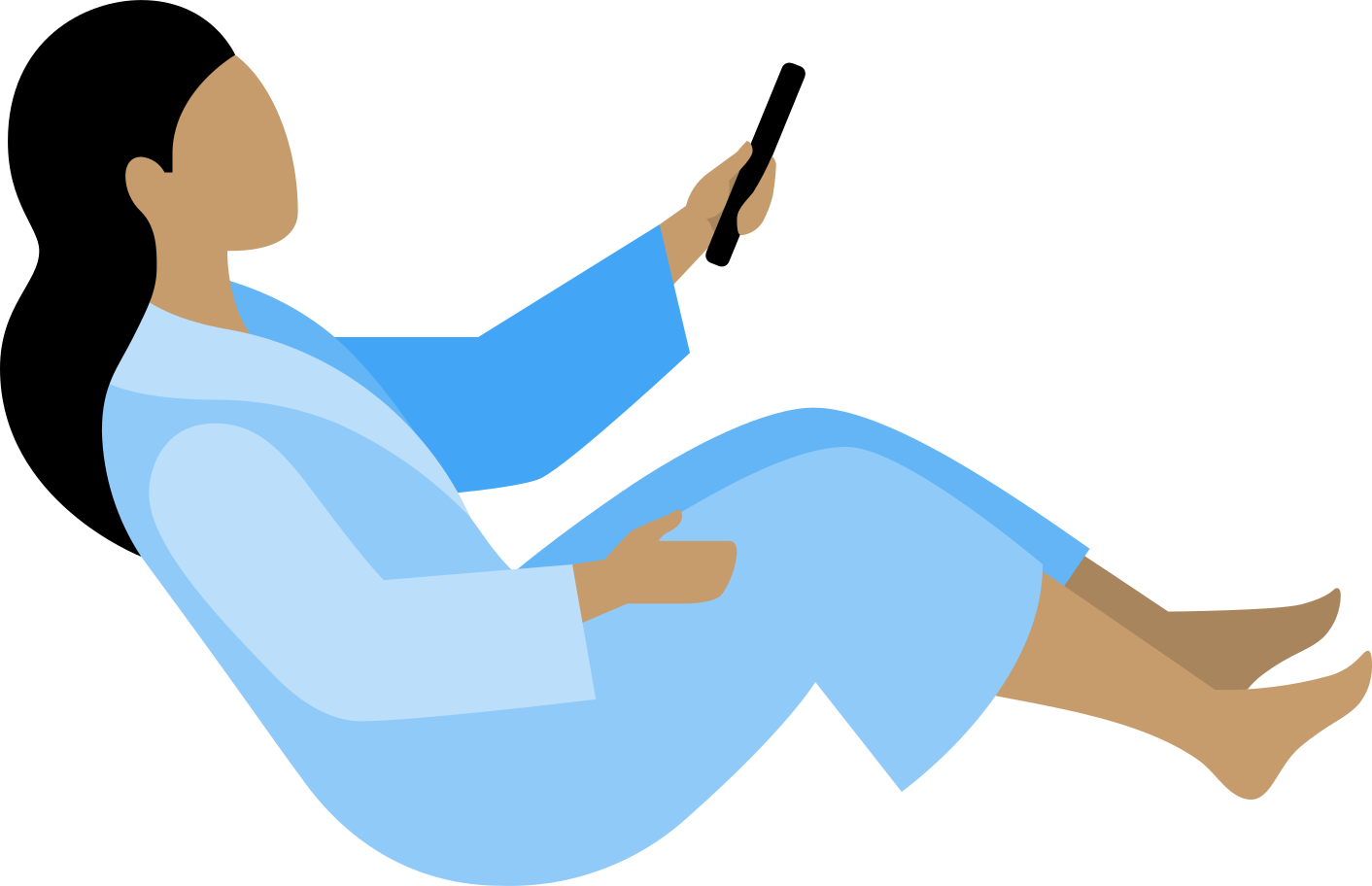 woman with tv remote control Clipart illustration in PNG, SVG