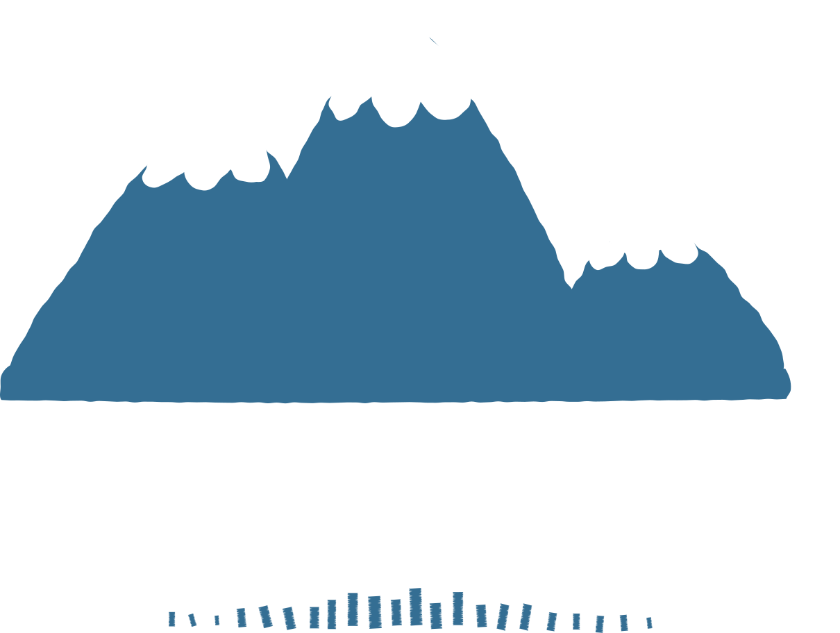 mountain clouds Clipart illustration in PNG, SVG