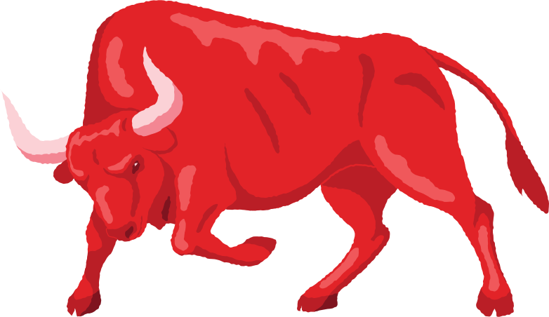 angry bull Clipart illustration in PNG, SVG
