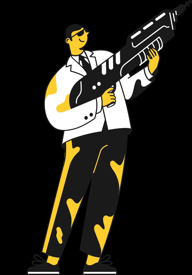 man with gun Clipart-Grafik als PNG, SVG