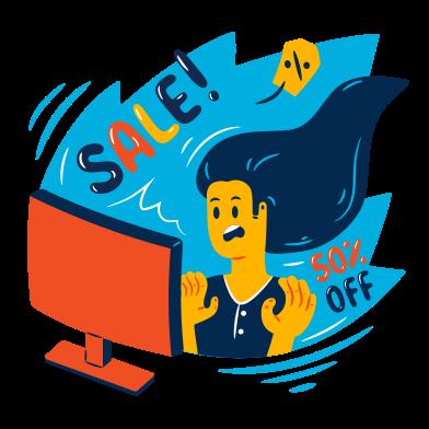 Иллюстрация Интернет-продажа в стиле  в PNG и SVG | Icons8 Иллюстрации