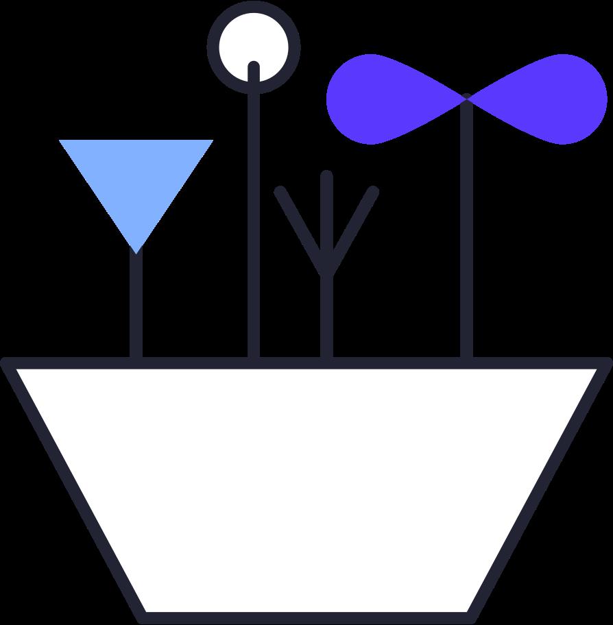 progress  flower pot Clipart illustration in PNG, SVG
