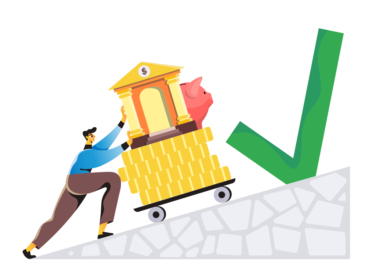 Financial growth Clipart illustration in PNG, SVG