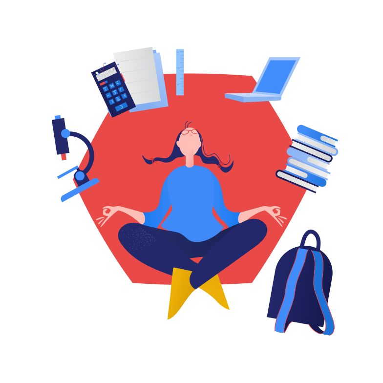 style The student is meditating Vector images in PNG and SVG | Icons8 Illustrations