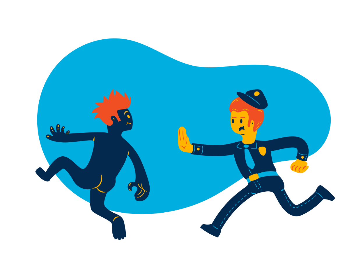 Policeman on duty Clipart illustration in PNG, SVG