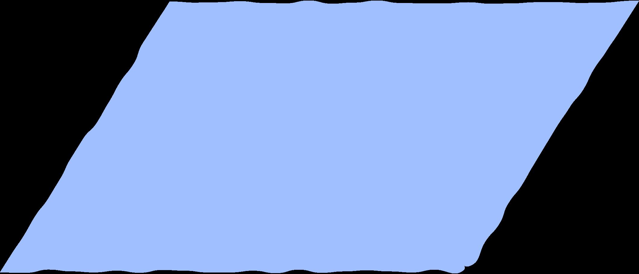 parallelogram light blue Clipart illustration in PNG, SVG
