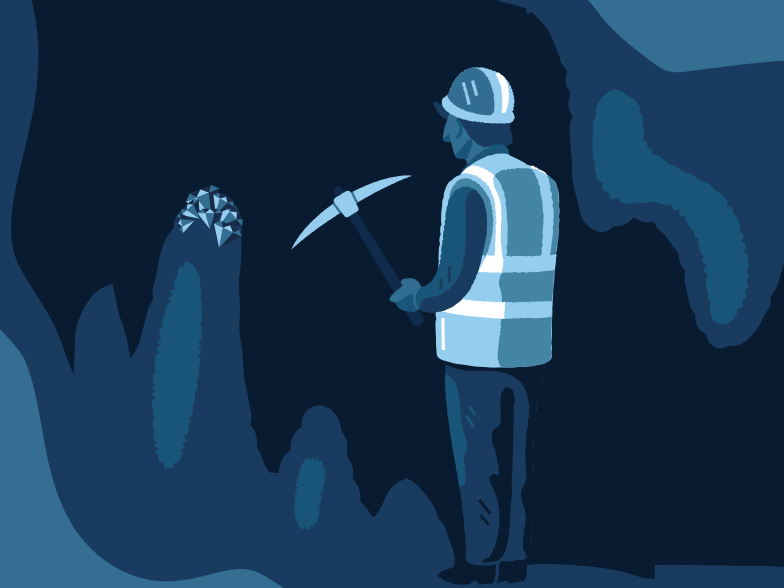 Valuable minerals in the cave Clipart illustration in PNG, SVG