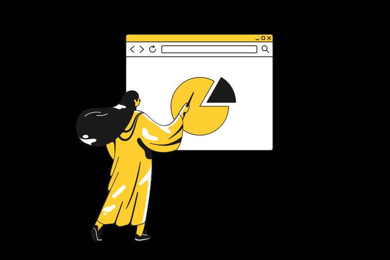 Report presentation Clipart illustration in PNG, SVG