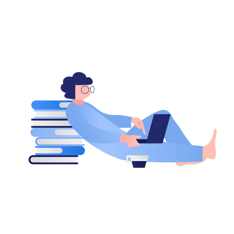 Remote learning Clipart illustration in PNG, SVG