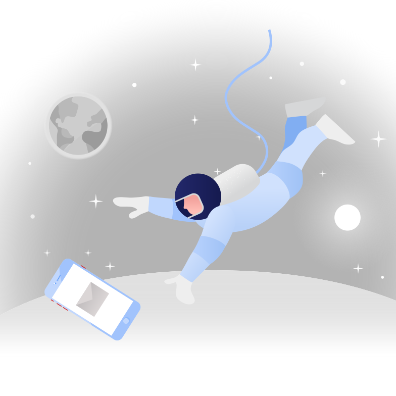 The astronaut received a letter Clipart illustration in PNG, SVG
