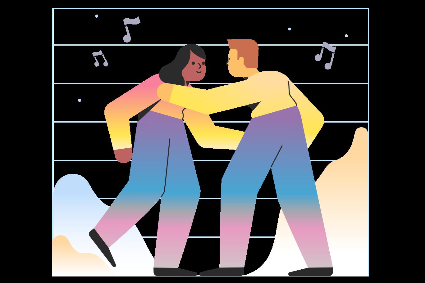 Dancing Clipart illustration in PNG, SVG