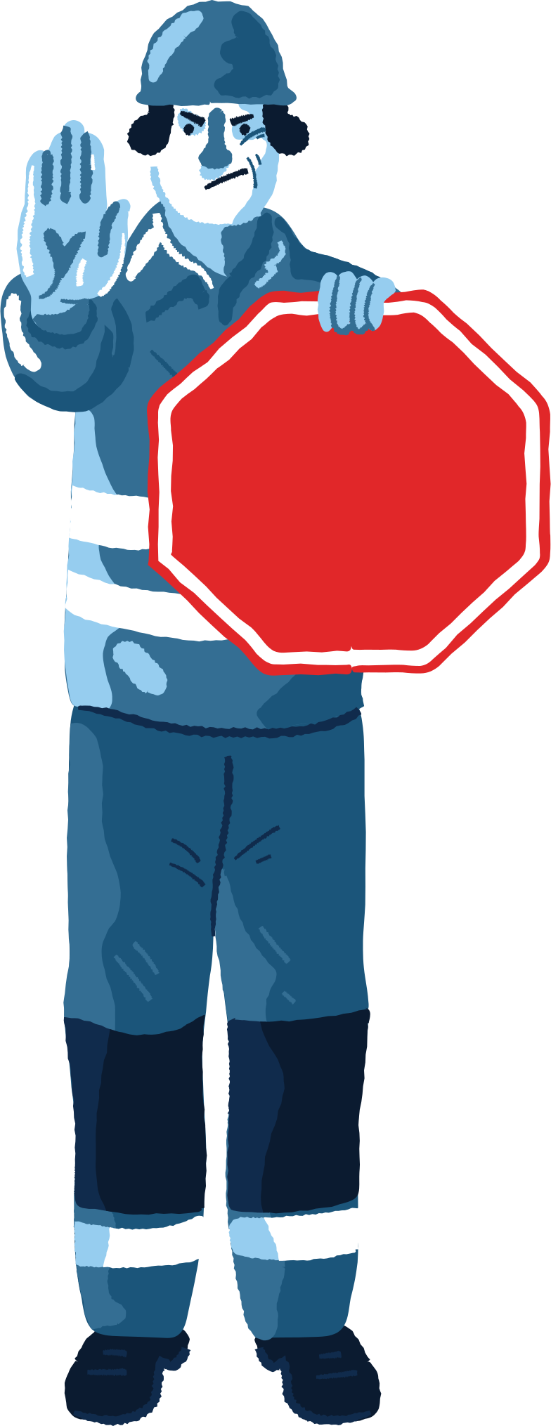 traffic guard Clipart illustration in PNG, SVG