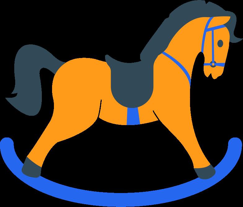 rocking horse Clipart illustration in PNG, SVG