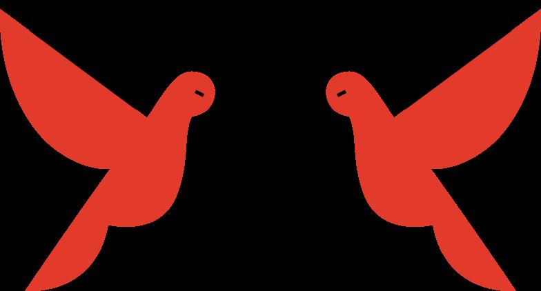wedding doves Clipart illustration in PNG, SVG
