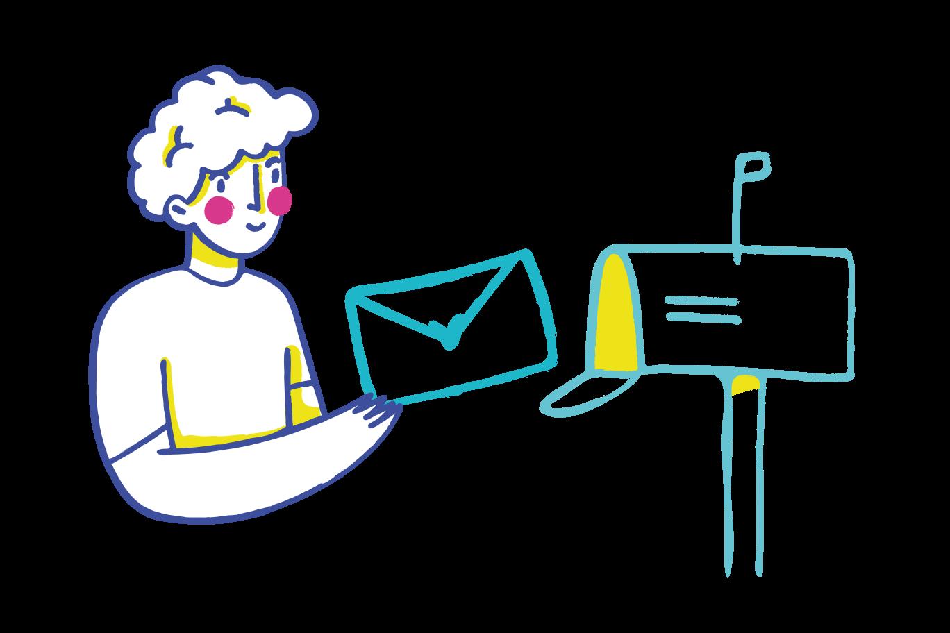 Sending a letter Clipart illustration in PNG, SVG