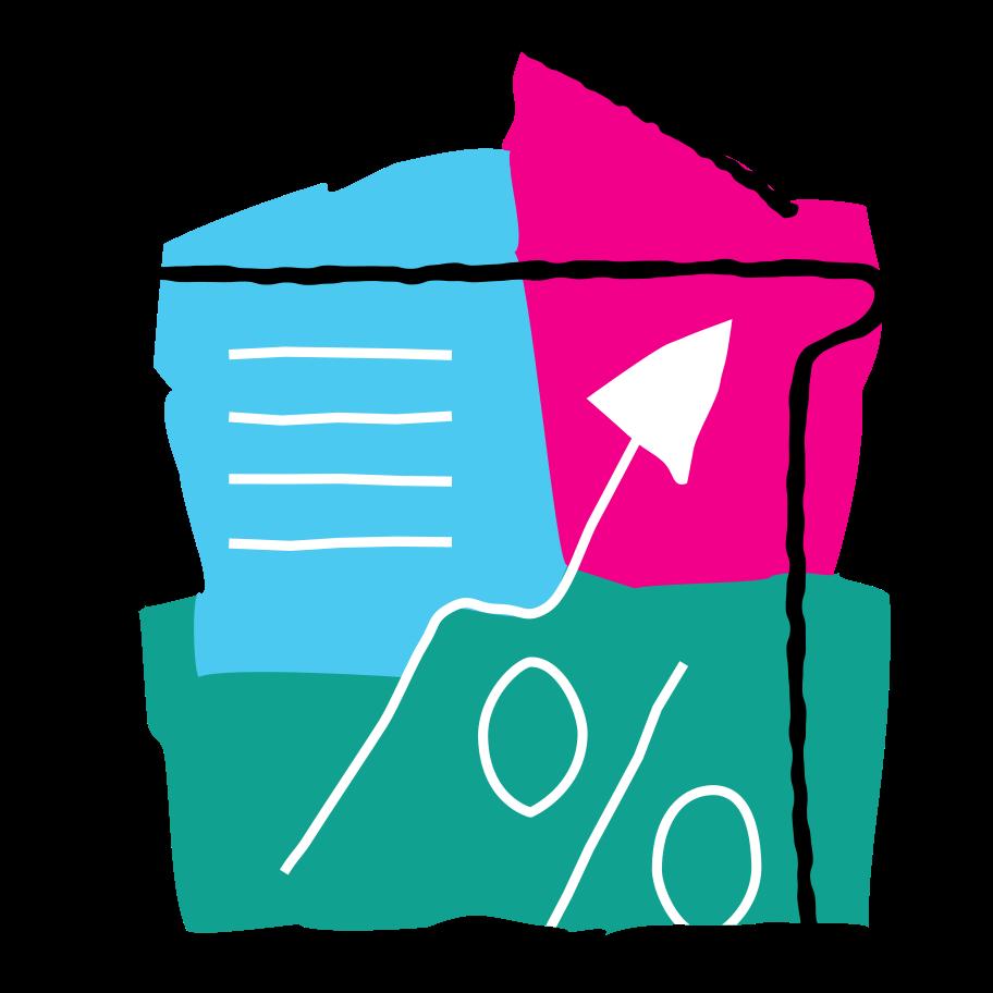 Real estate market growth Clipart illustration in PNG, SVG