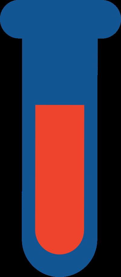 blood test tube Clipart illustration in PNG, SVG