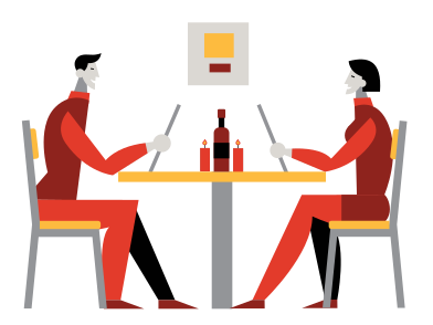 style Dinner at the restaurant images in PNG and SVG | Icons8 Illustrations