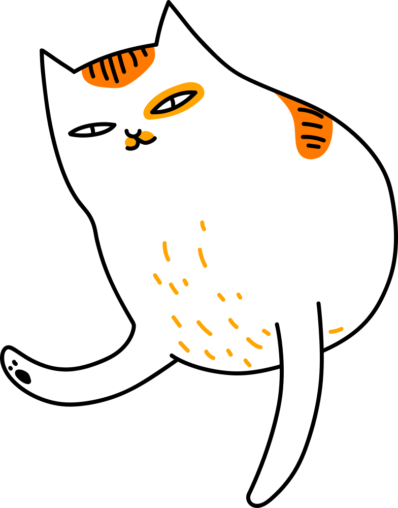 style half cat Vector images in PNG and SVG | Icons8 Illustrations