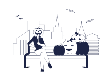 style Halloween Pumpkin Market images in PNG and SVG | Icons8 Illustrations