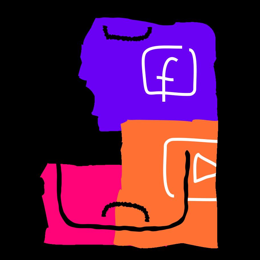 Social Media Clipart illustration in PNG, SVG
