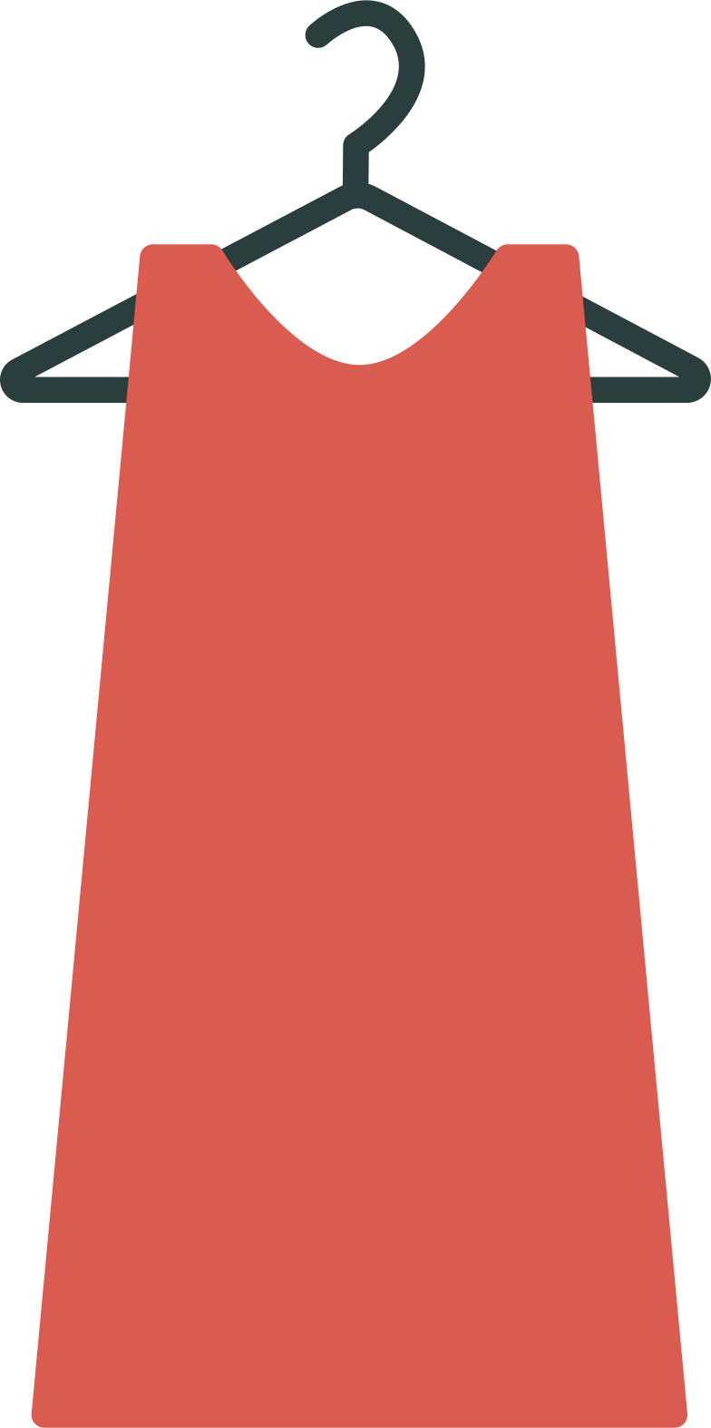 style hanger with dress Vector images in PNG and SVG | Icons8 Illustrations