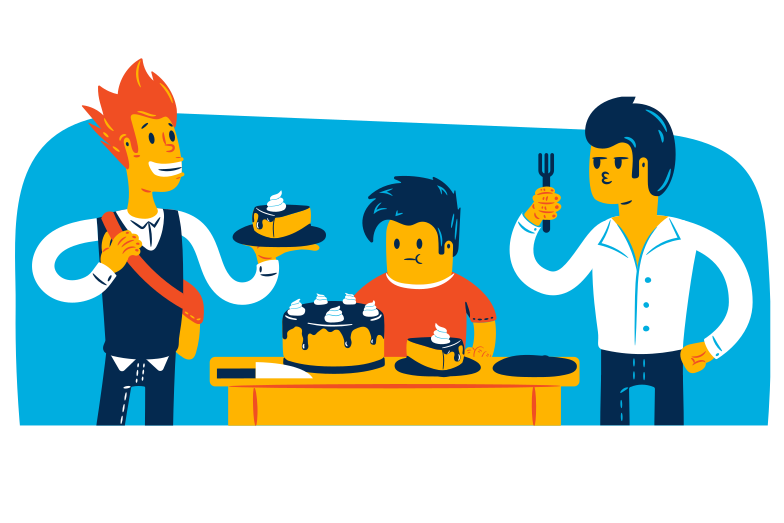 Cake for the family Clipart illustration in PNG, SVG