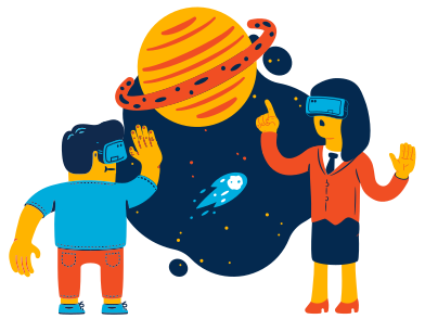style Space virtual reality images in PNG and SVG | Icons8 Illustrations