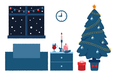 style New Year interior images in PNG and SVG | Icons8 Illustrations