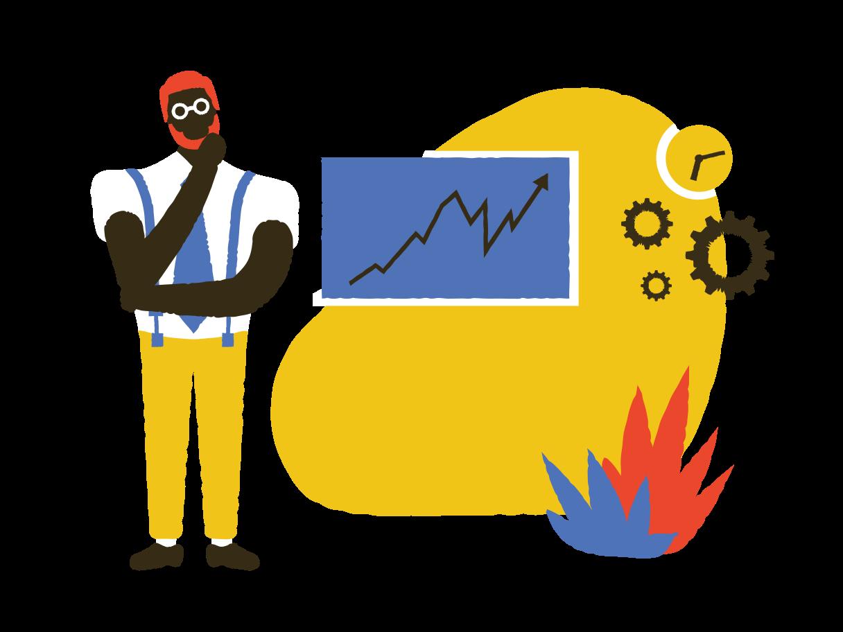 Brainstorming presentation Clipart illustration in PNG, SVG