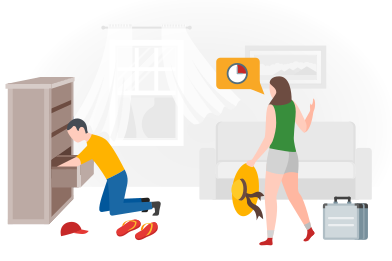 style Couple late for flight images in PNG and SVG | Icons8 Illustrations