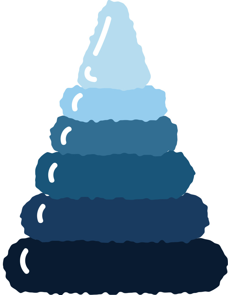 pyramid blue Clipart illustration in PNG, SVG