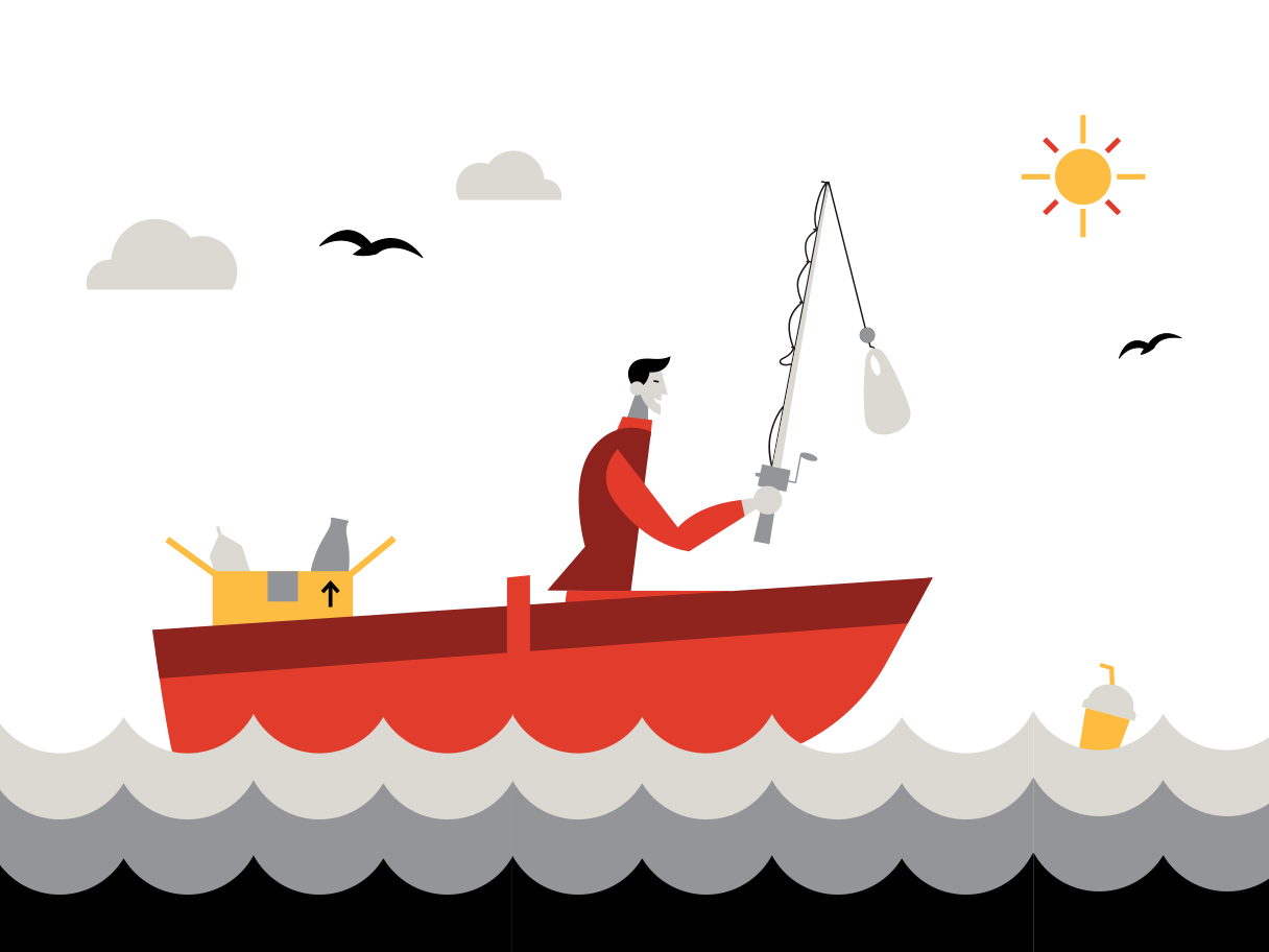 Modern catch Clipart illustration in PNG, SVG