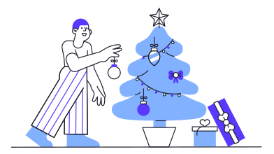 style Christmas tree decoration images in PNG and SVG | Icons8 Illustrations