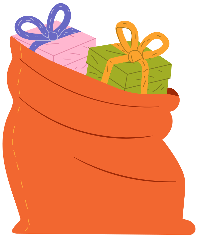 style bag with gifts Vector images in PNG and SVG | Icons8 Illustrations