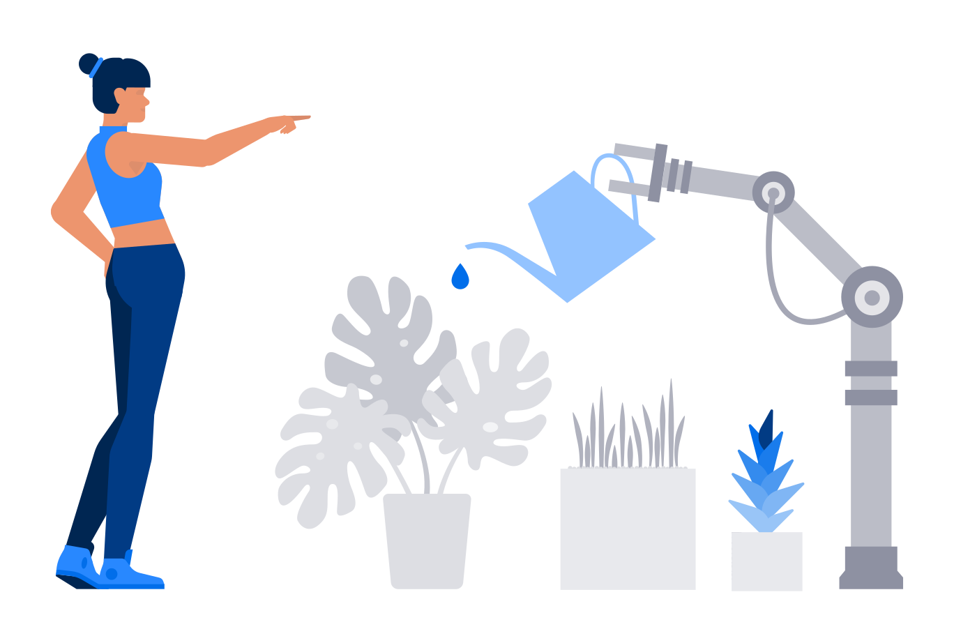 style Robot gardener Vector images in PNG and SVG | Icons8 Illustrations
