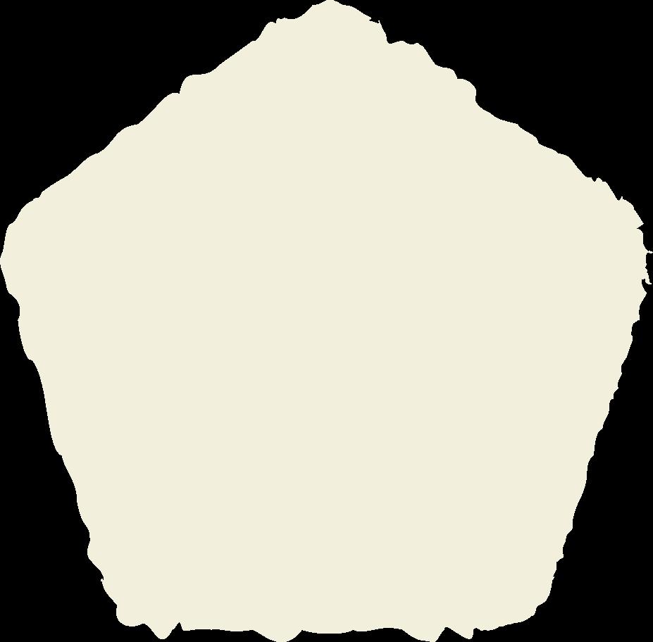 pentagon beige Clipart illustration in PNG, SVG