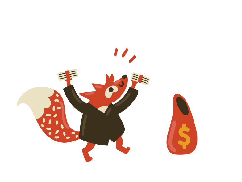 Success with money  Clipart illustration in PNG, SVG