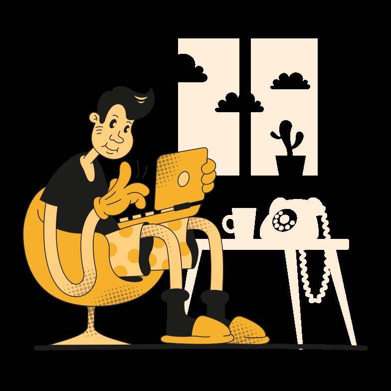 Imagem vetorial de Trabalhando em casa estilo  em PNG e SVG | Ilustrações do Icons8