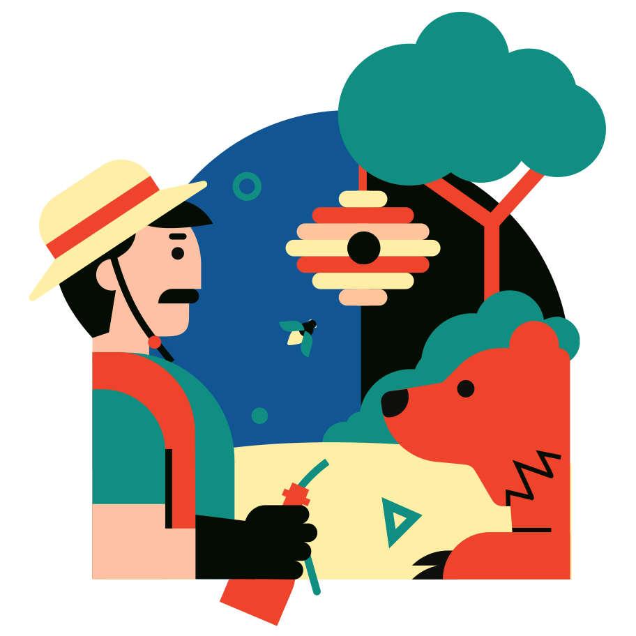 An unexpected meeting Clipart illustration in PNG, SVG