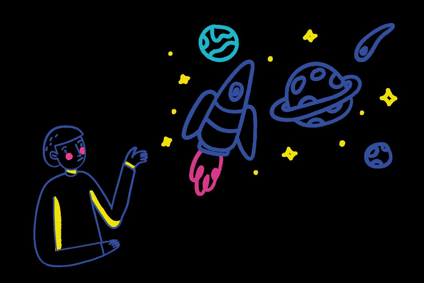 Über das universum nachdenken Clipart-Grafik als PNG, SVG