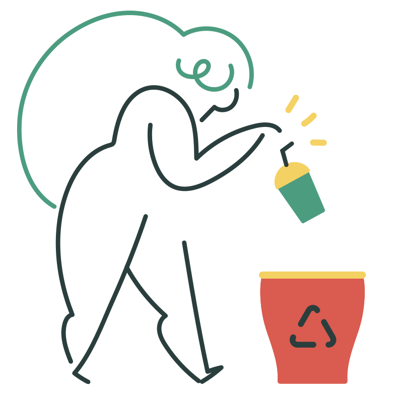 Recycling waste Clipart illustration in PNG, SVG